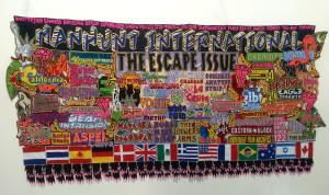 Jody Paulsen,  Manhunt International, 2014, Felt, 4.5 x 2 m. Image courtesy of Brundyn+ Gallery.