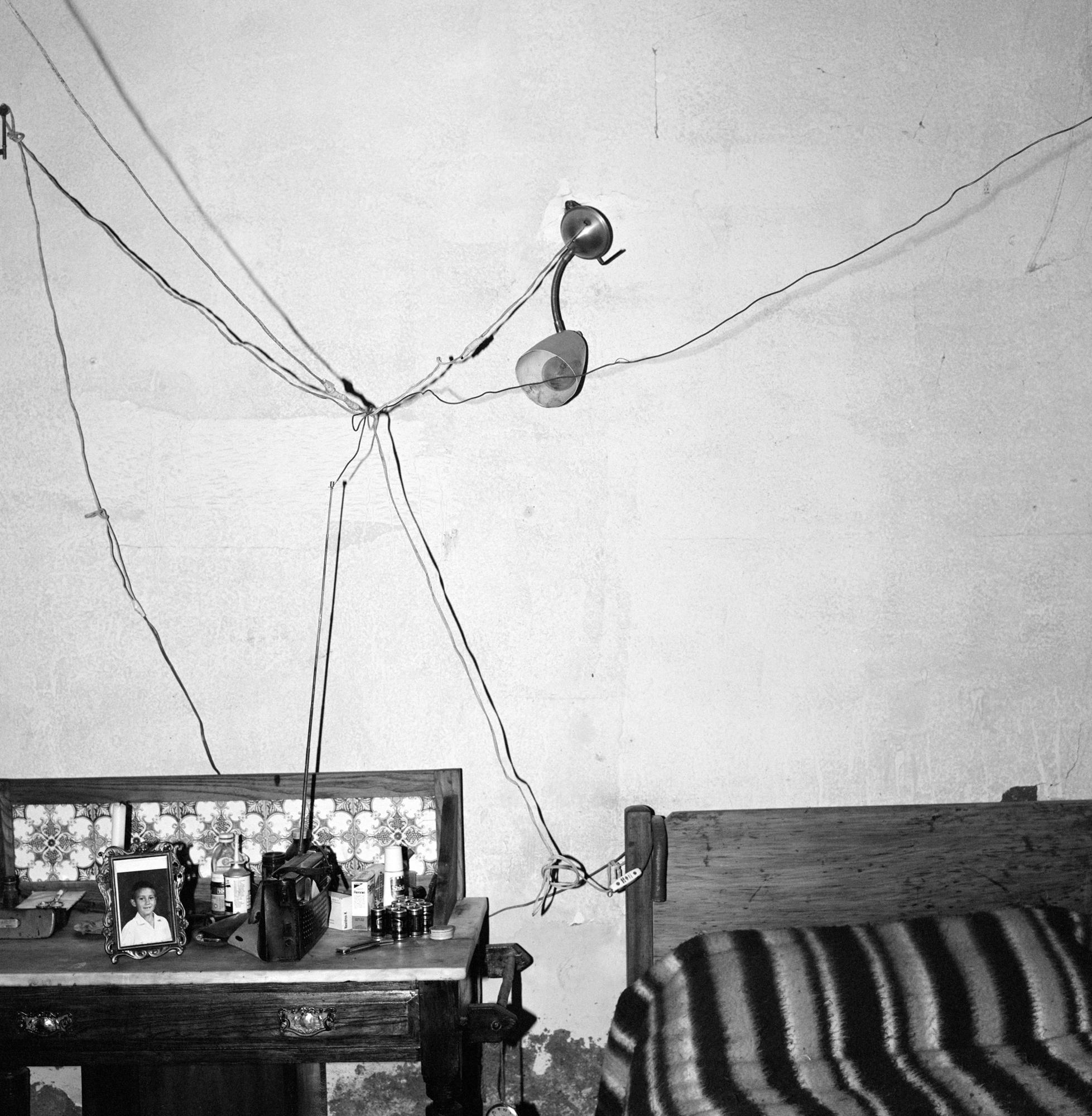Roger Ballen Bedroom of railway worker De Aar 1984_